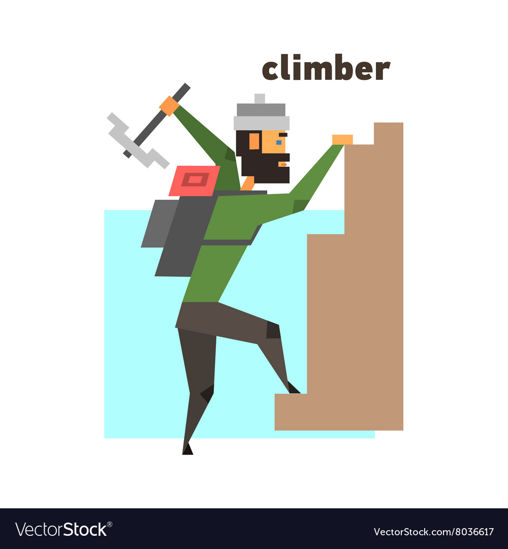 Rock Climber Abstract Figure vector image