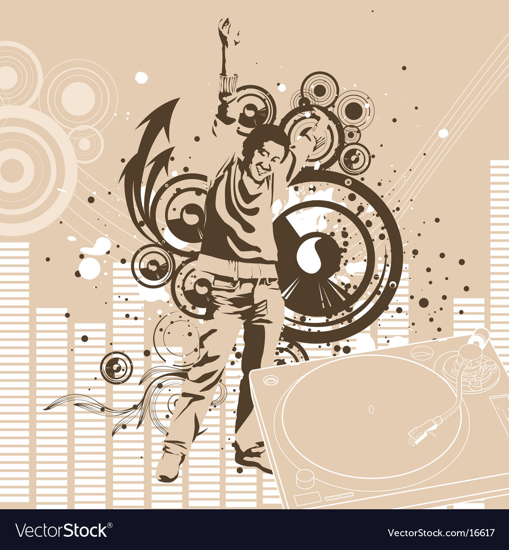 Urban Dj graphic background vector image