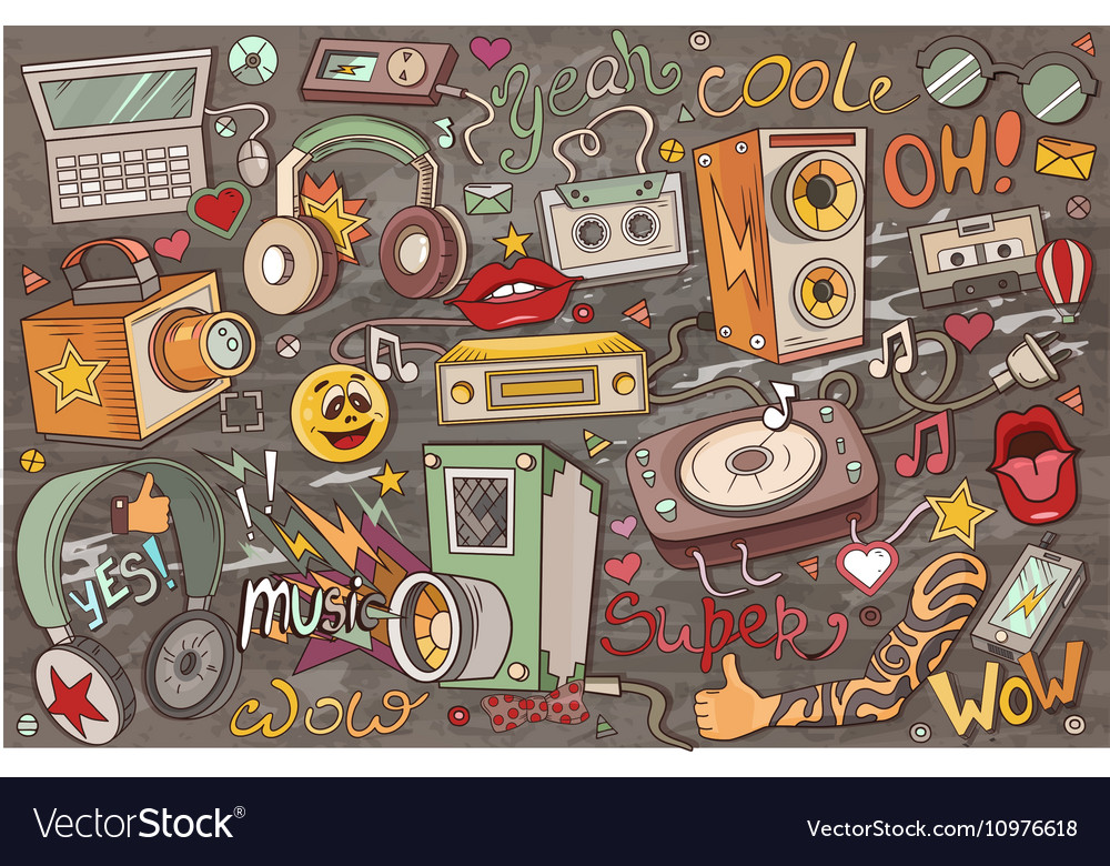 Abstract of music vector image