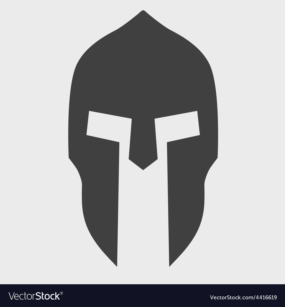 Silhouette of spartan helmet royalty free vector image for Spartan mask template