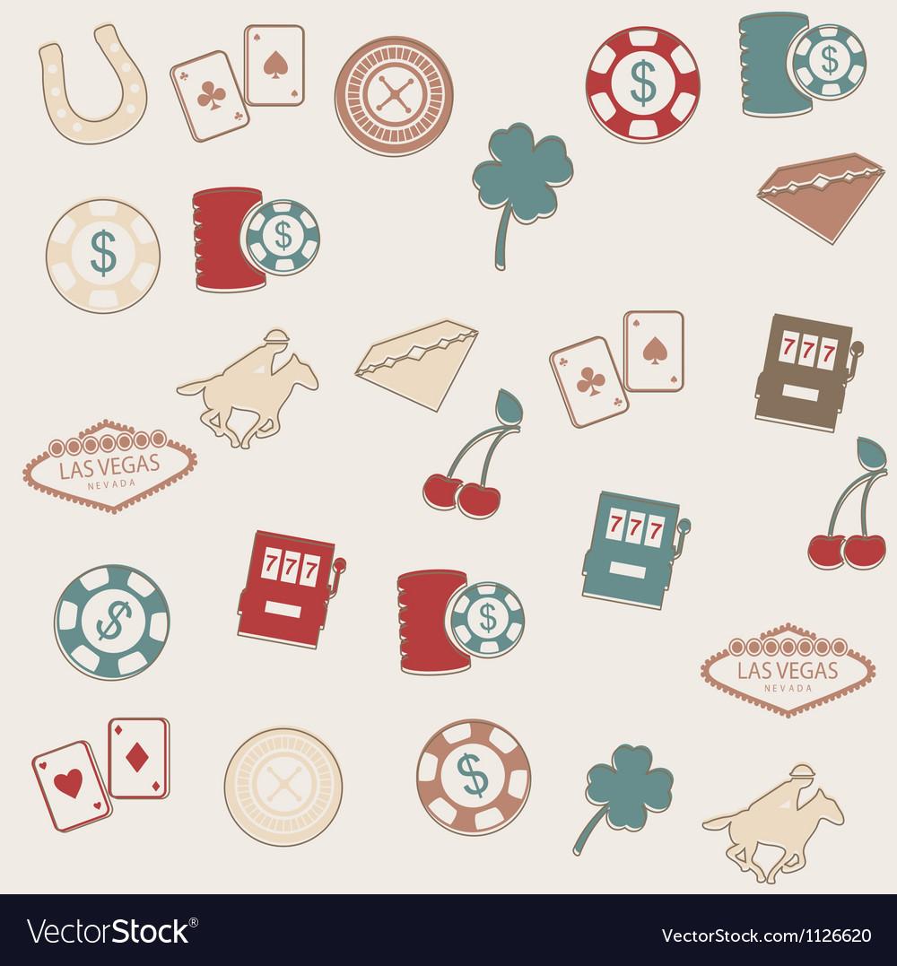 Las Vegas seamless pattern Vector Image