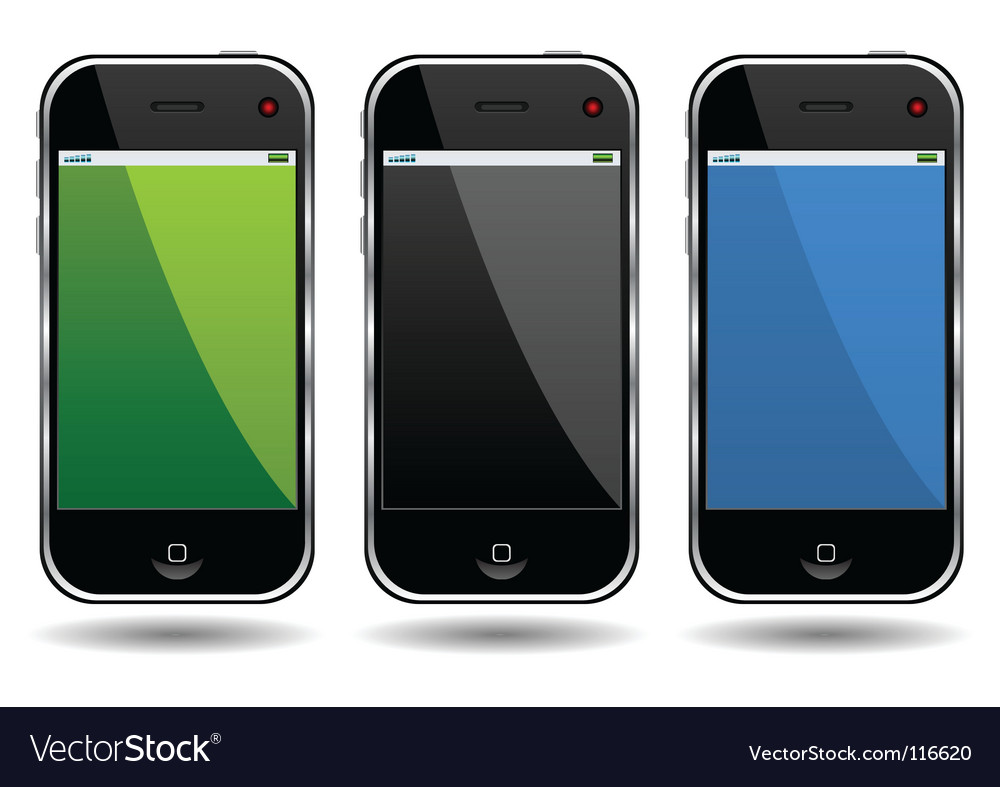 Cell phones vector image