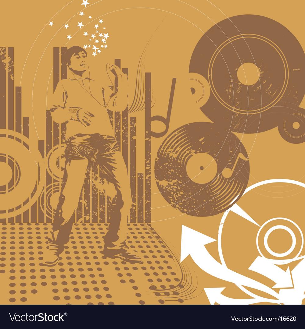 Urban music guy vector image