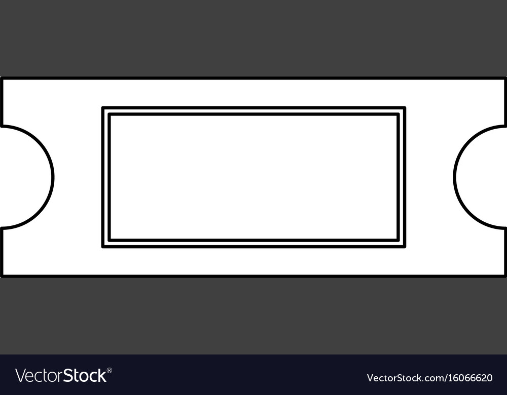 Ticket black color path icon vector image