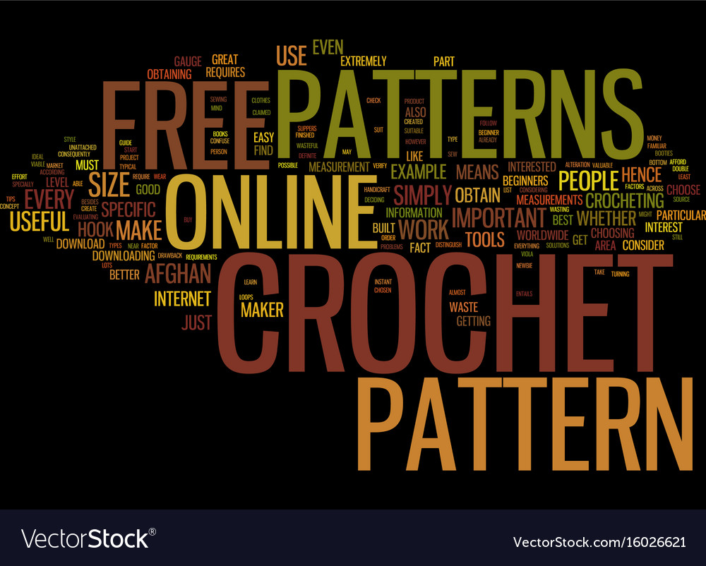 Free online crochet patterns text background word vector image free online crochet patterns text background word vector image bankloansurffo Image collections