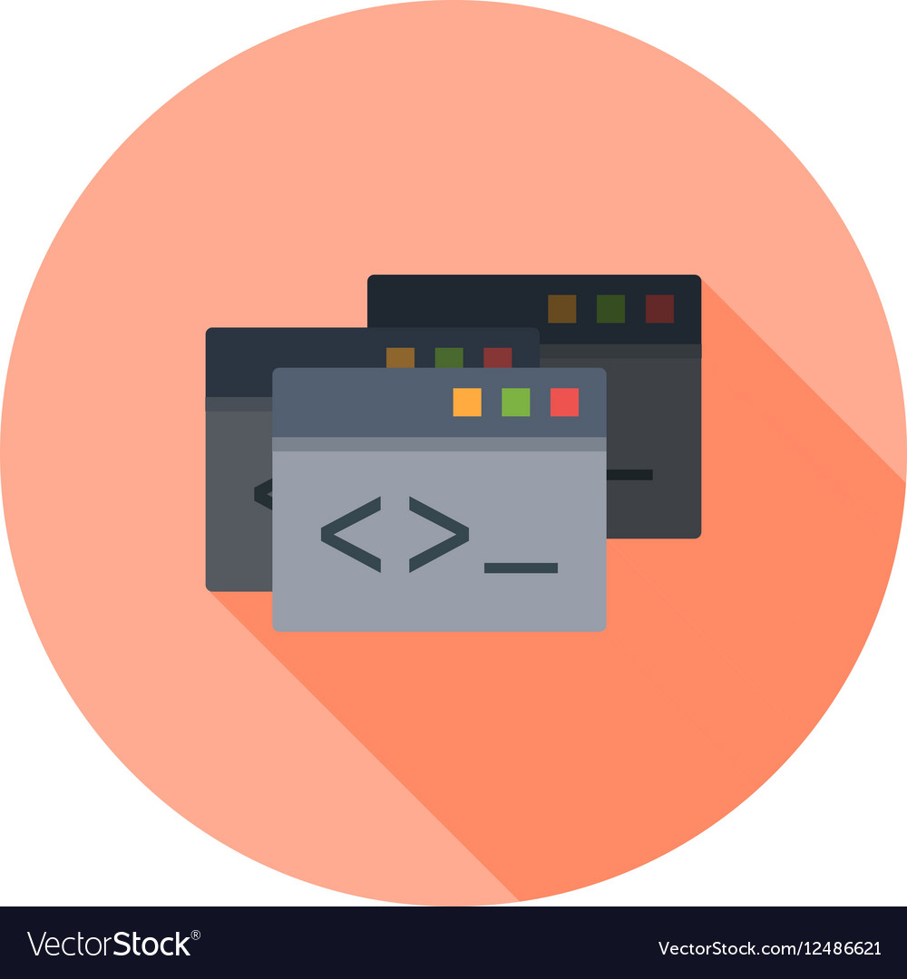 Programming Windows vector image