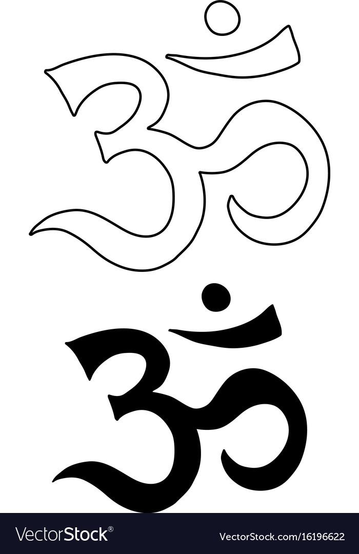 Om symbol aum ohm hand drawn tattoo art royalty free vector om symbol aum ohm hand drawn tattoo art vector image buycottarizona Gallery