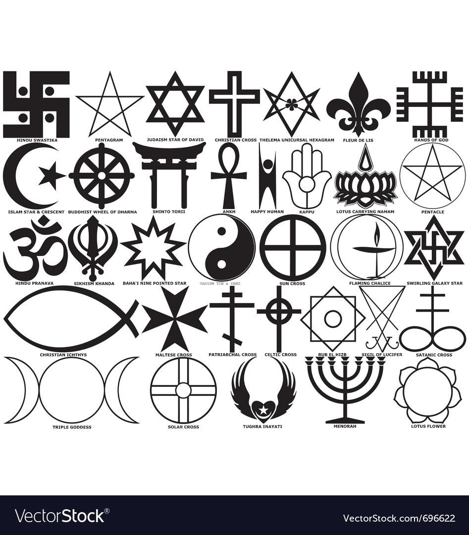 Religious symbols royalty free vector image vectorstock religious symbols vector image biocorpaavc
