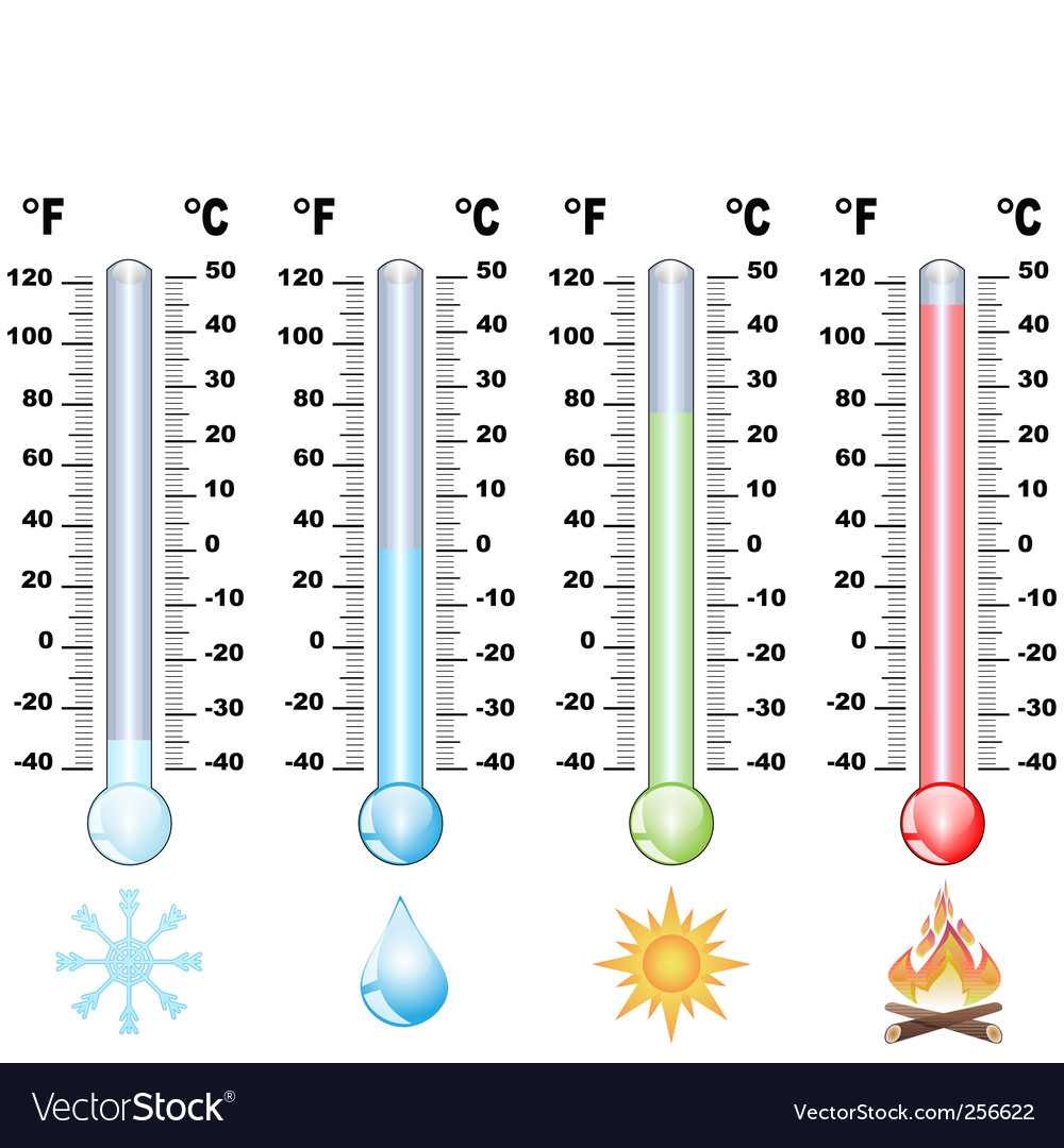 Thermometer and global warming vector image