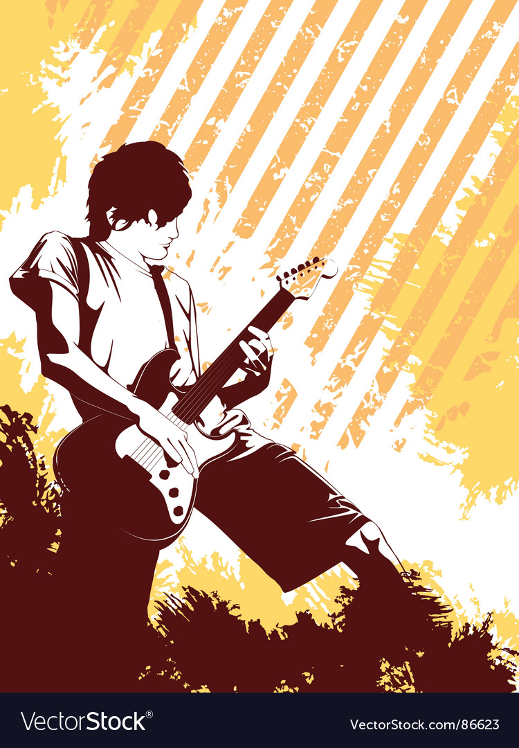 Grunge musician vector image