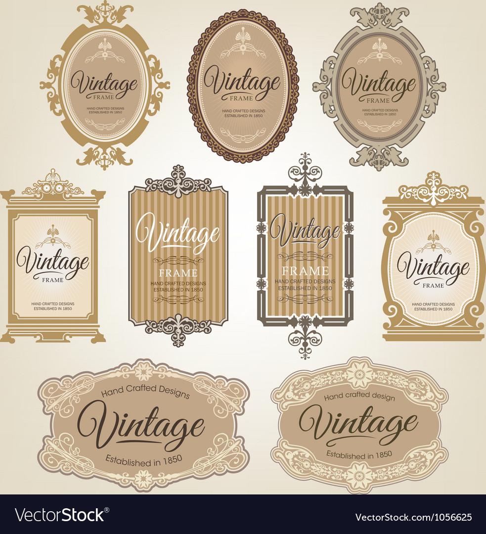 Vintage frames Vector Image