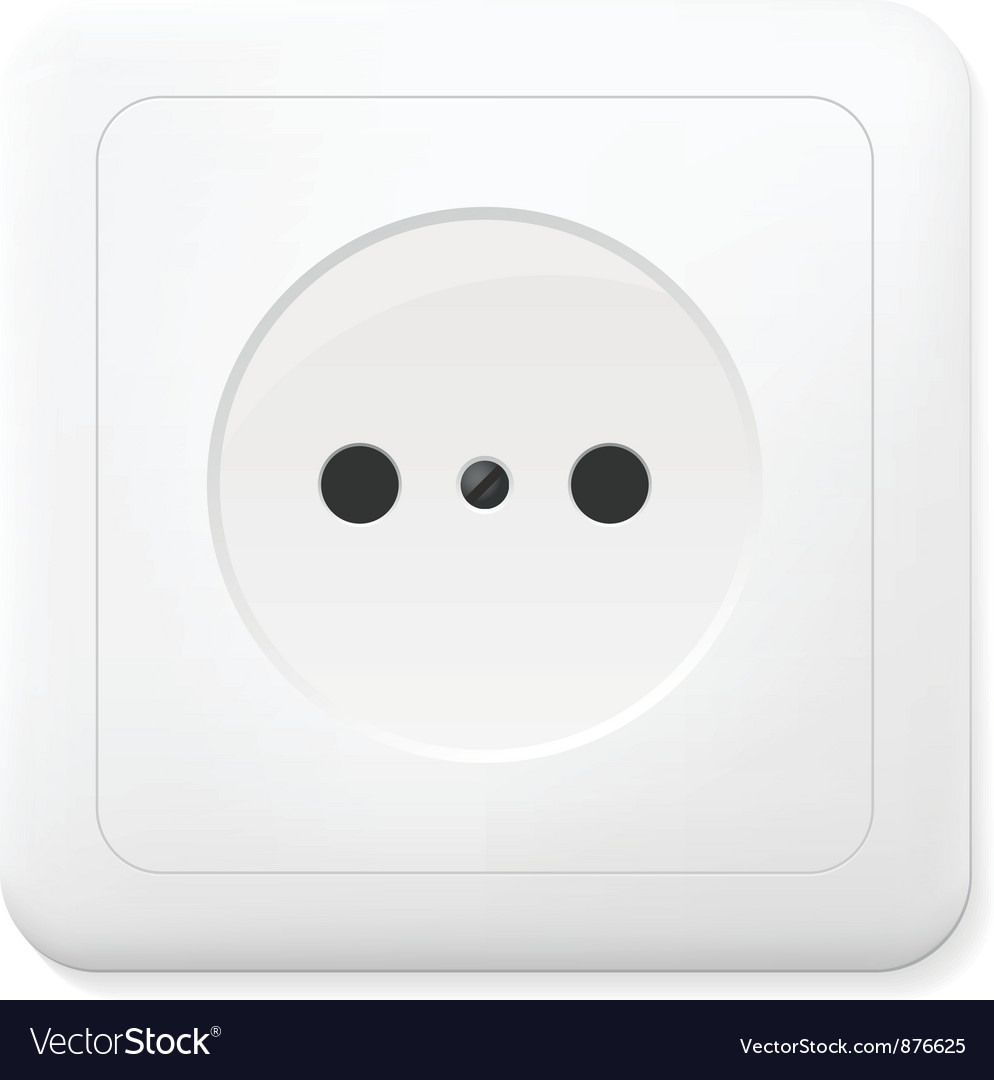 Realistic electric outlet vector image