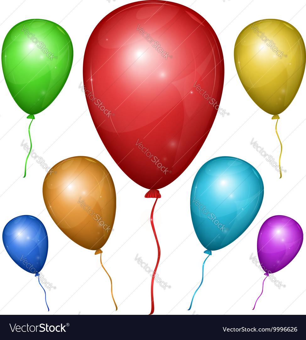 Balloon Color Set vector image