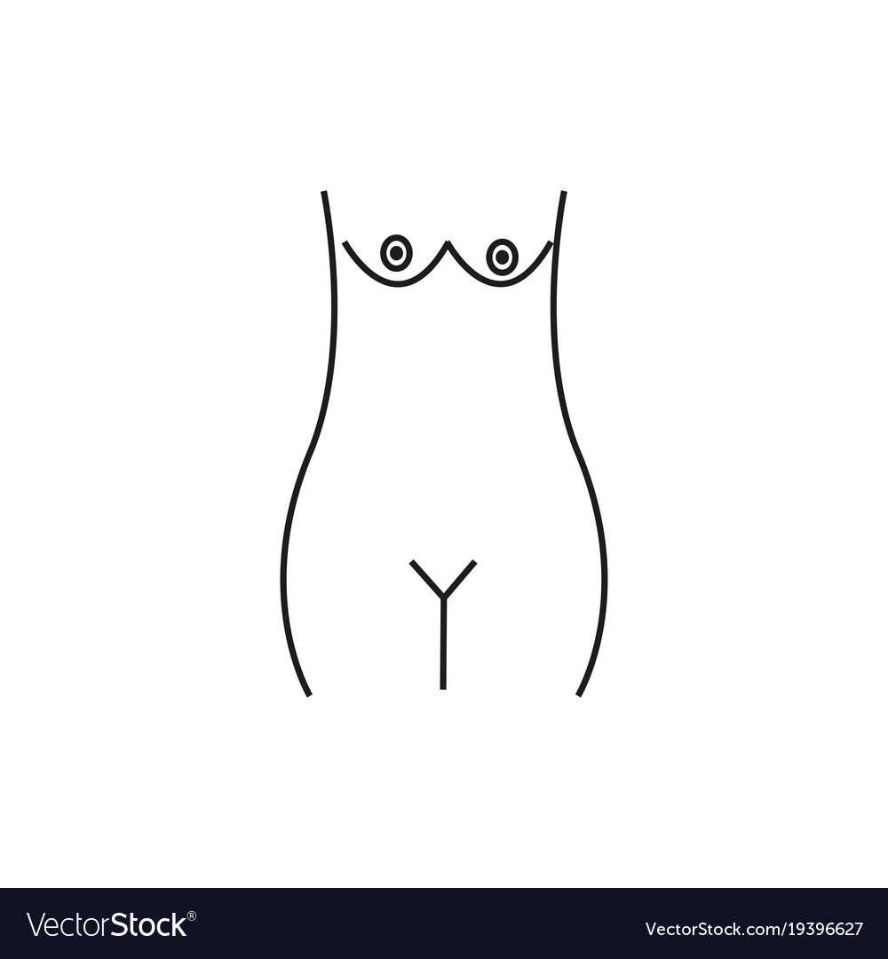 Woman naked body icon vector image