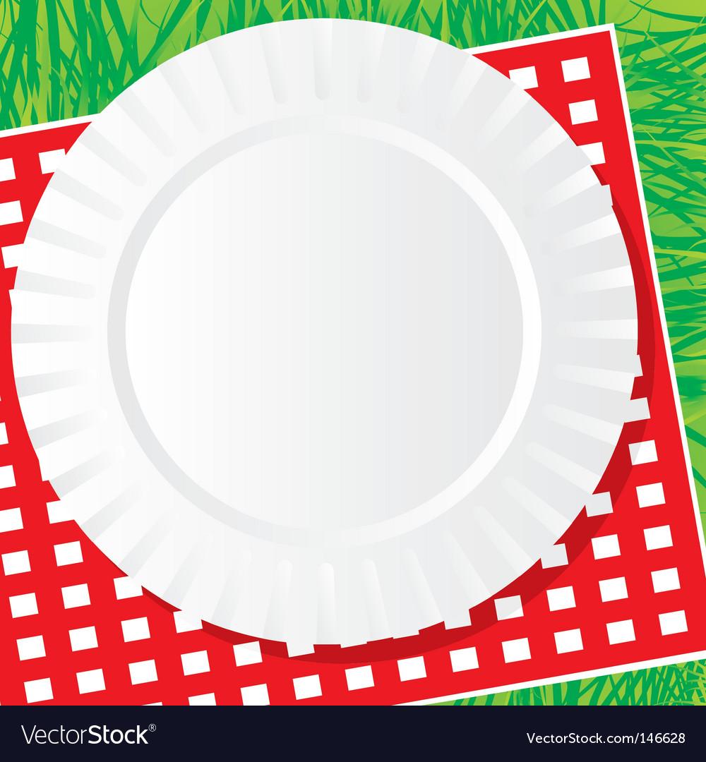 Plastic dish vector image
