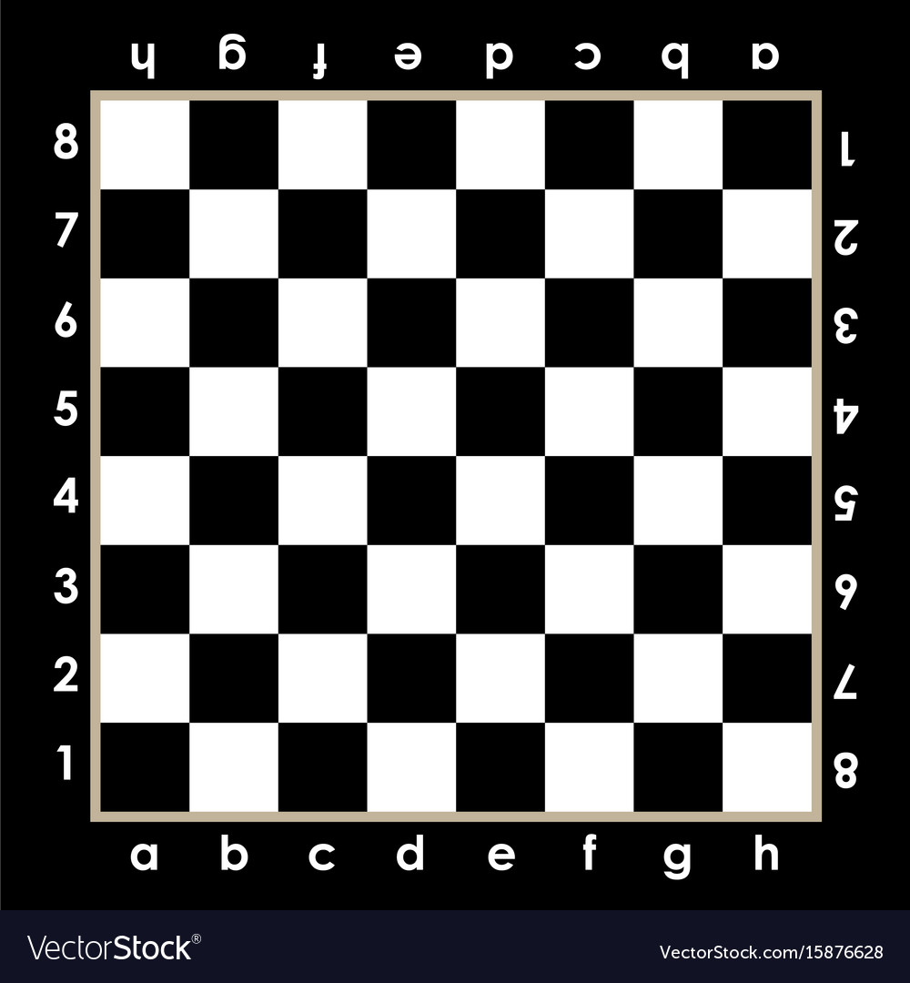 Chessboard design with algebraic notations vector image