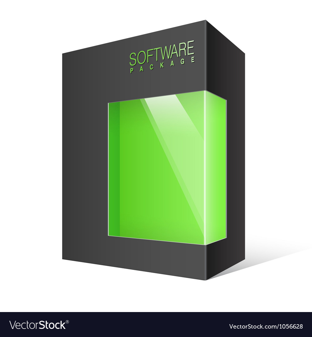Package Box with a transparent plastic window vector image