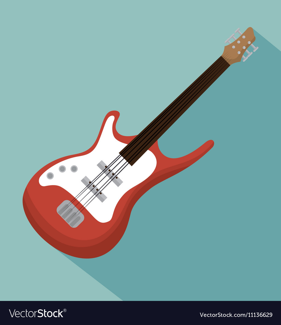 Electric guitar acoustic instrument icon vector image
