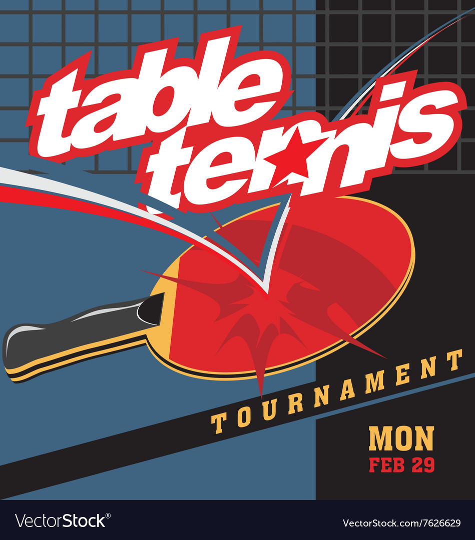 table tennis logo poster royalty free vector image