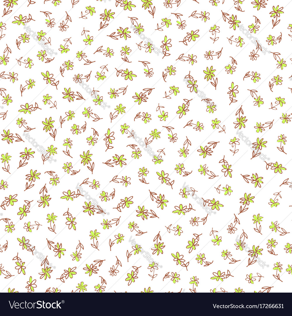 Hand drawn flower seamless pattern vector image