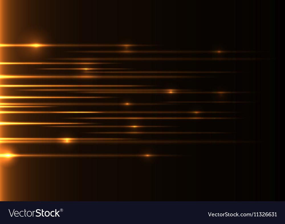 Orange speed laser vector image