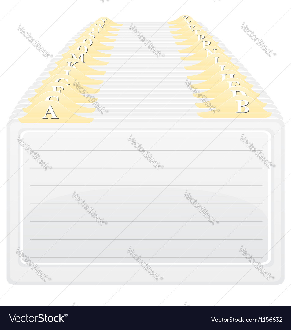Catalog in alphabetical order vector image