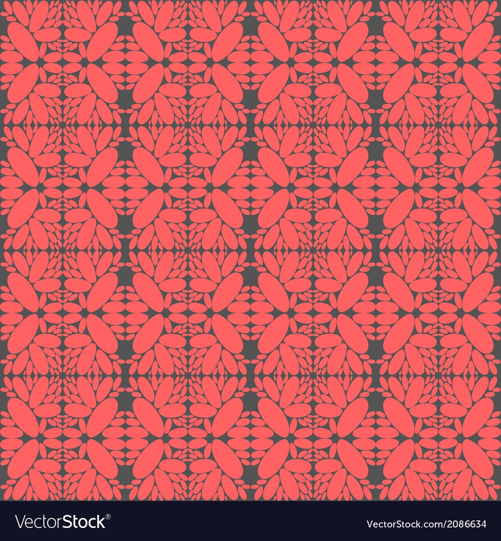 Pink romantic hand drawn seamless floral pattern vector image