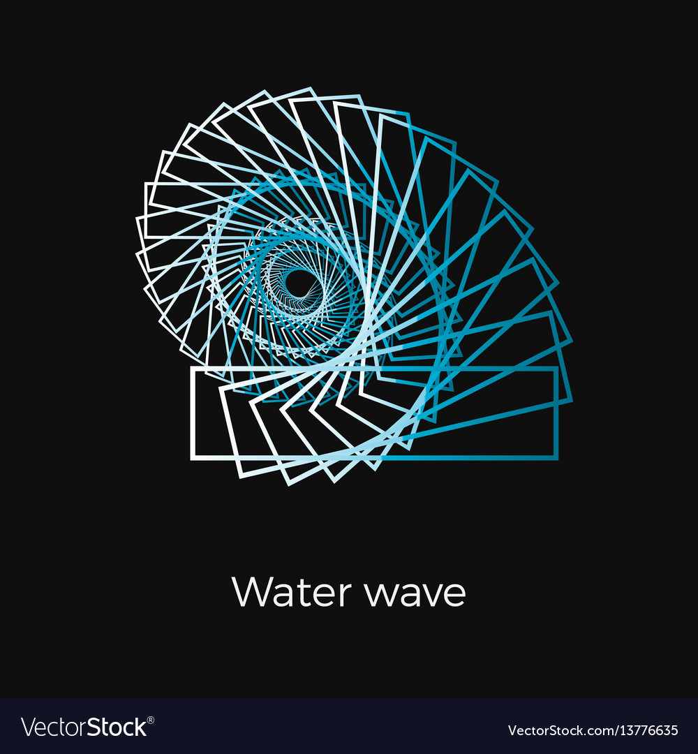 Water wave logo vector image