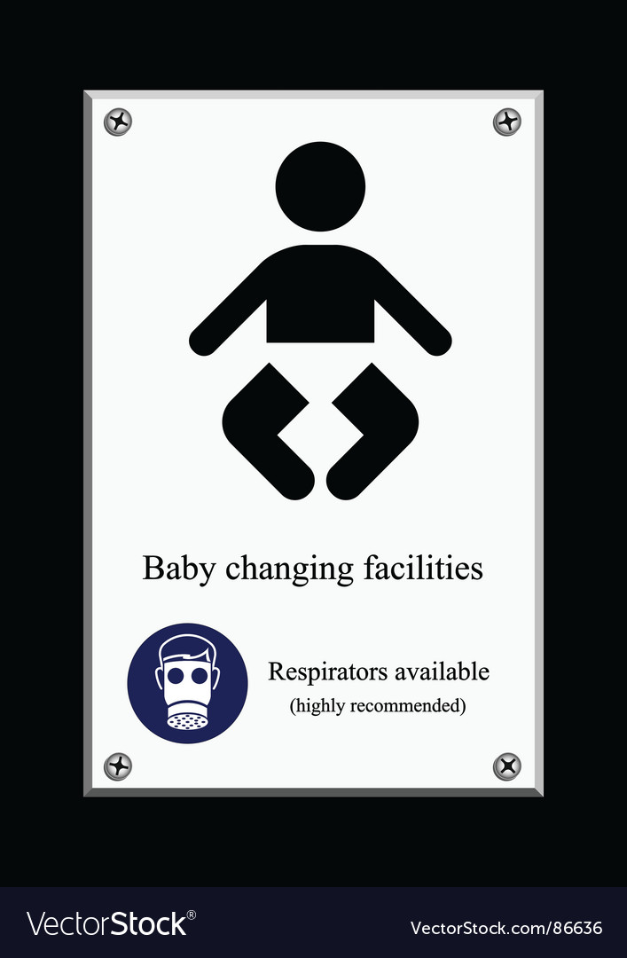 Baby changing sign Vector Image