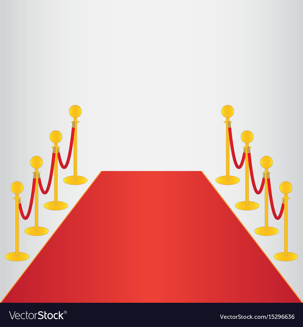 Red carpet ceremonial vector image