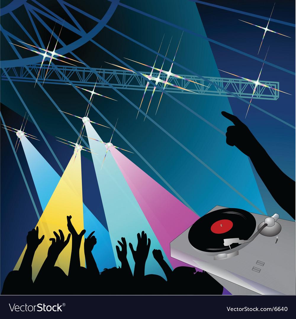 Disco night vector image