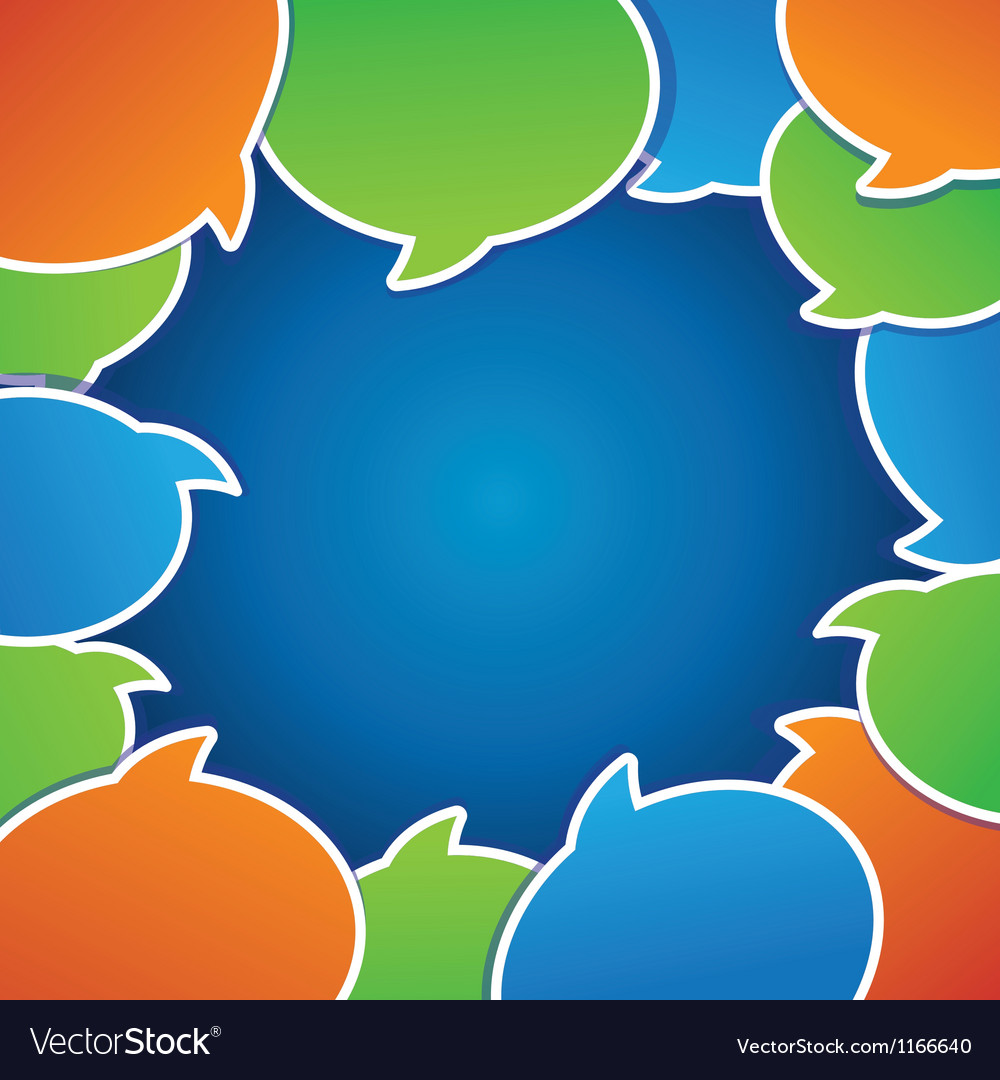 Abstract background with speech bubbles vector image