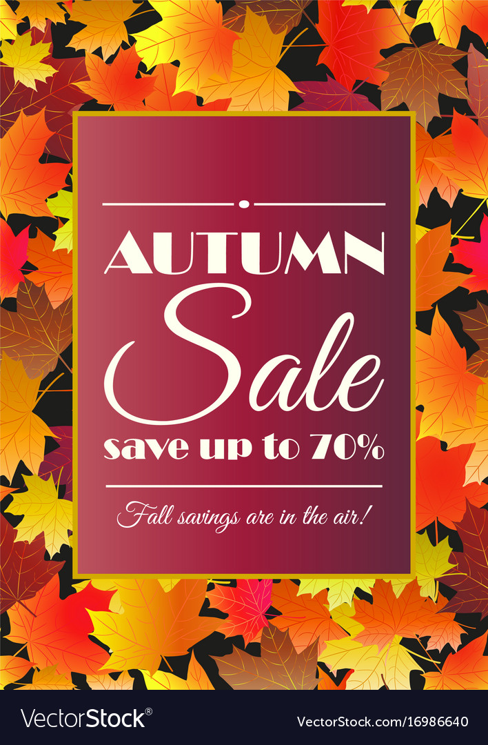 Abstract Autumn Poster Or Flyer Background With Space Stock Photo