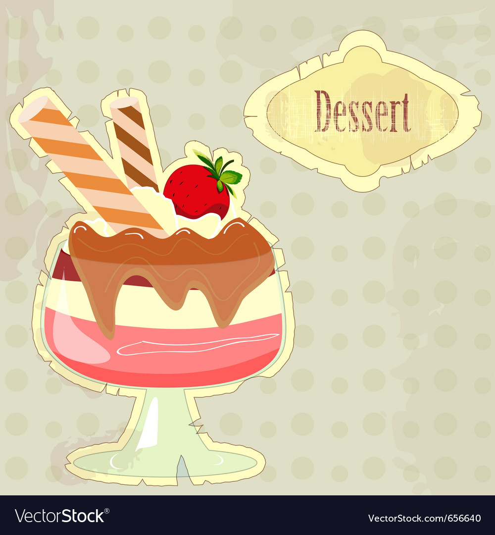 Dessert menu cover vector image