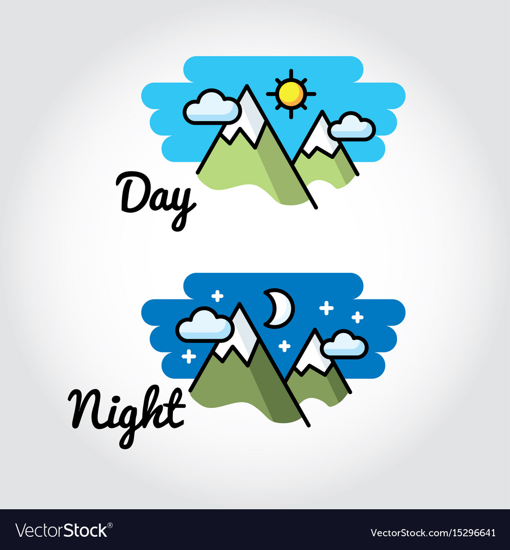Day and night sun moon symbol royalty free vector image day and night sun moon symbol vector image biocorpaavc Images