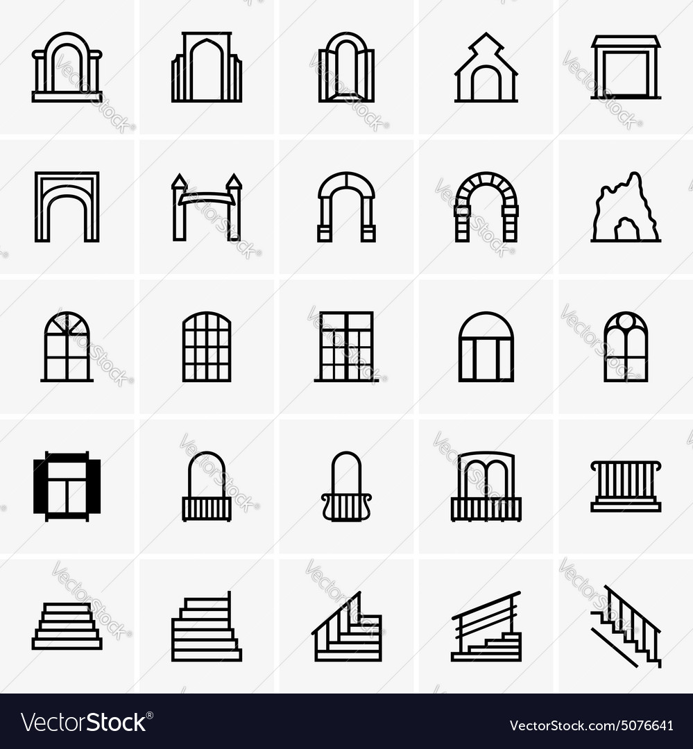 Entrances and windows vector image