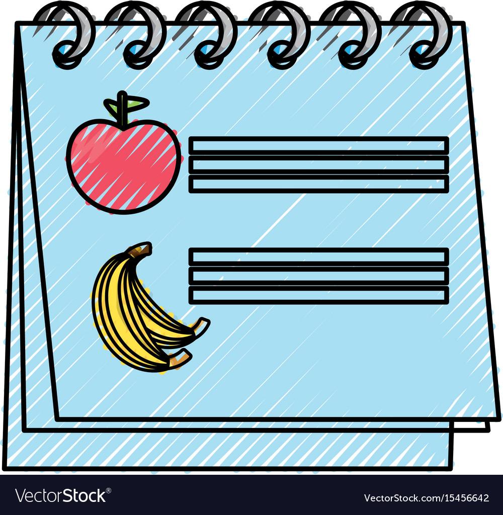 Calendar nutrition plan vector image