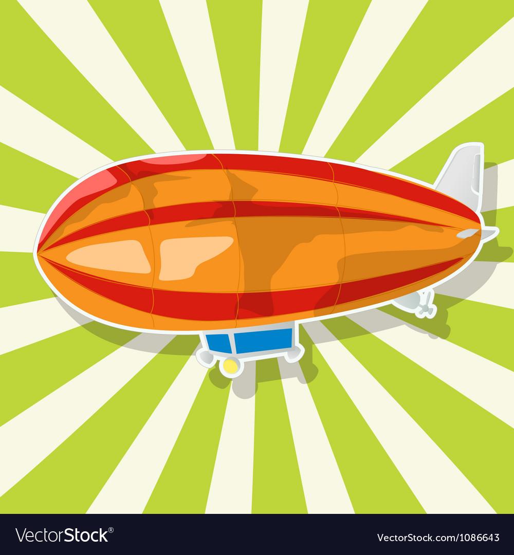 The fantastic Zeppelin Vector Image