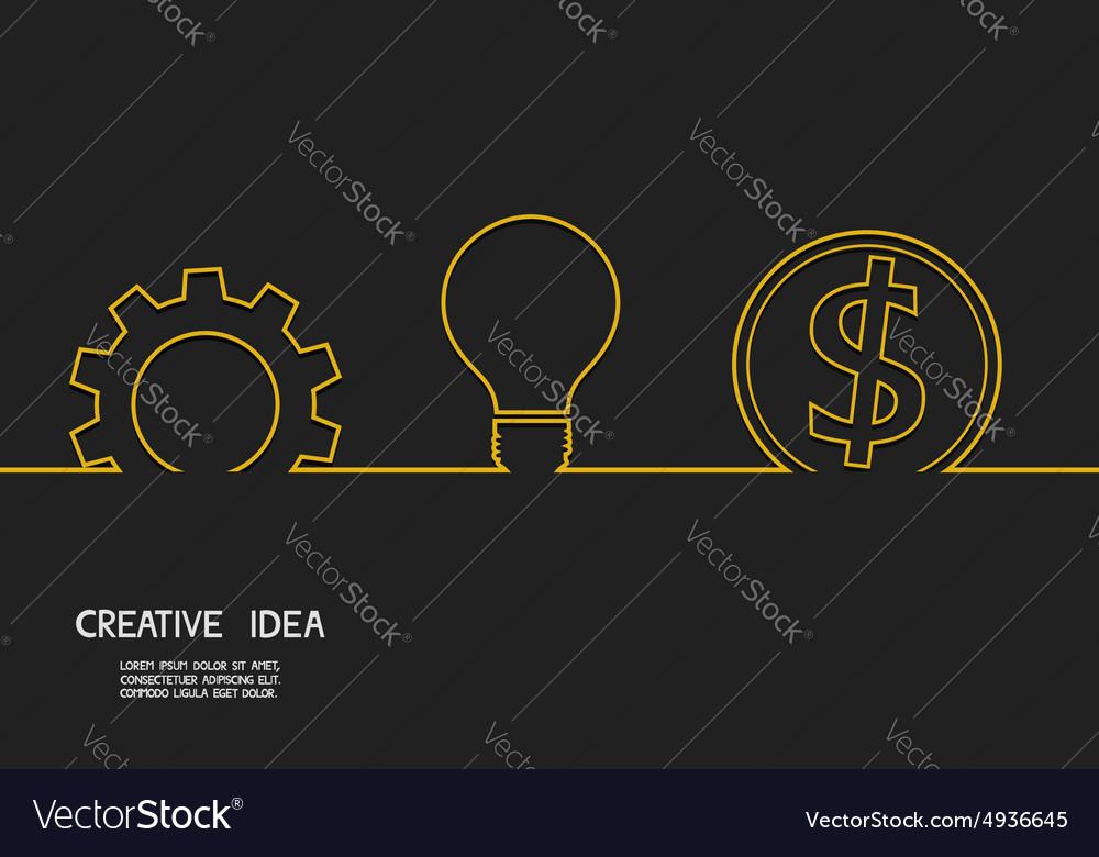 Creative idea concept make money vector image