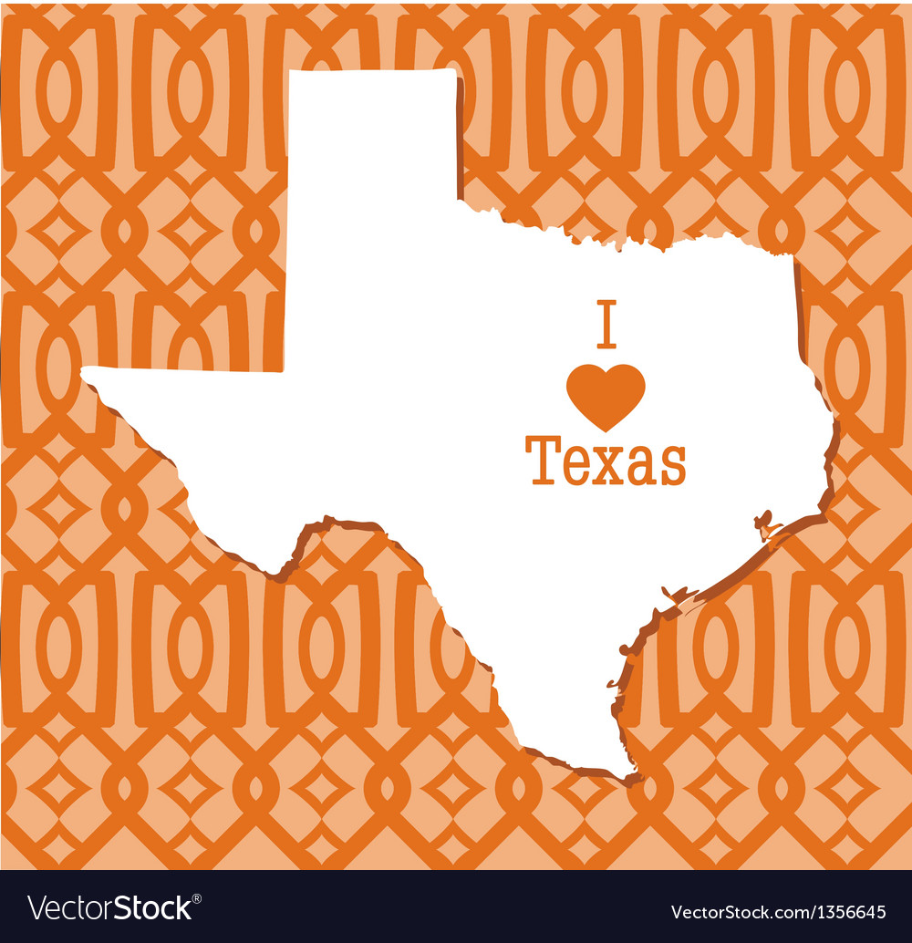 Modern Trellis Pattern Texas card vector image