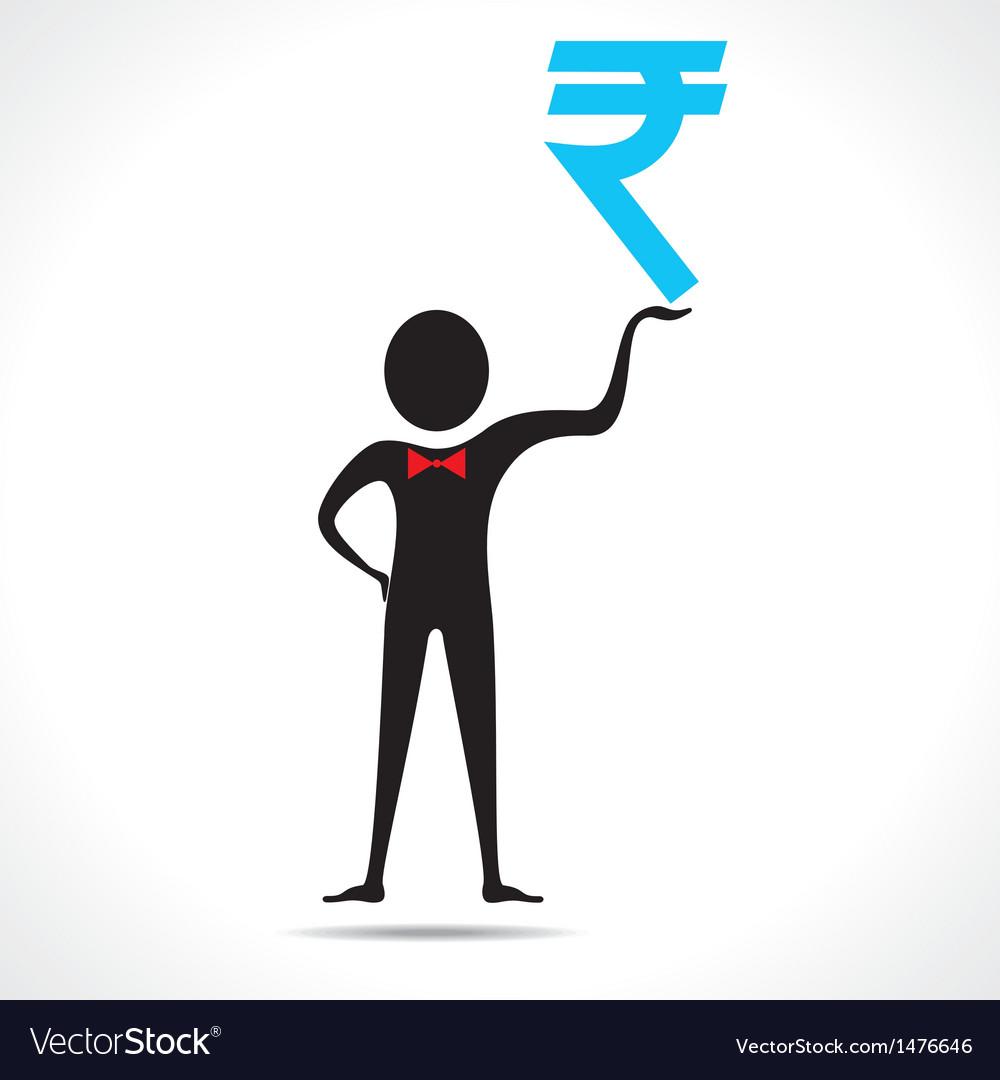 Man holding rupee symbol royalty free vector image man holding rupee symbol vector image biocorpaavc