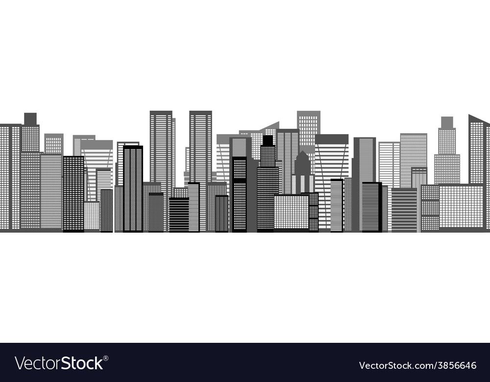 Skyline City Seamless Background vector image