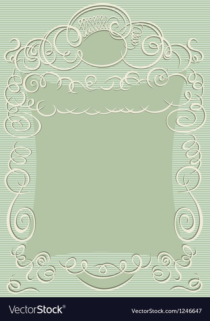 Swirling design frame vector image