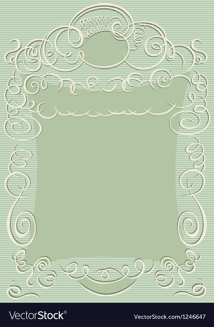 Swirling design frame vector image