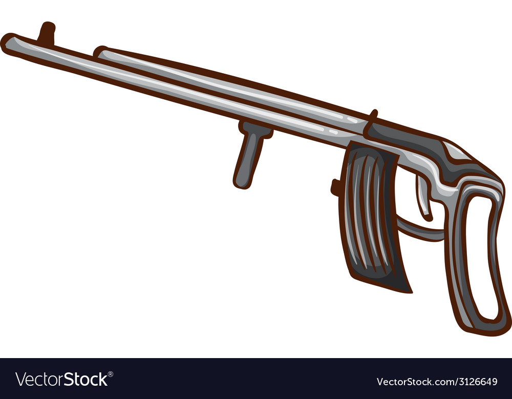 A simple sketch of a soldiers gun vector image
