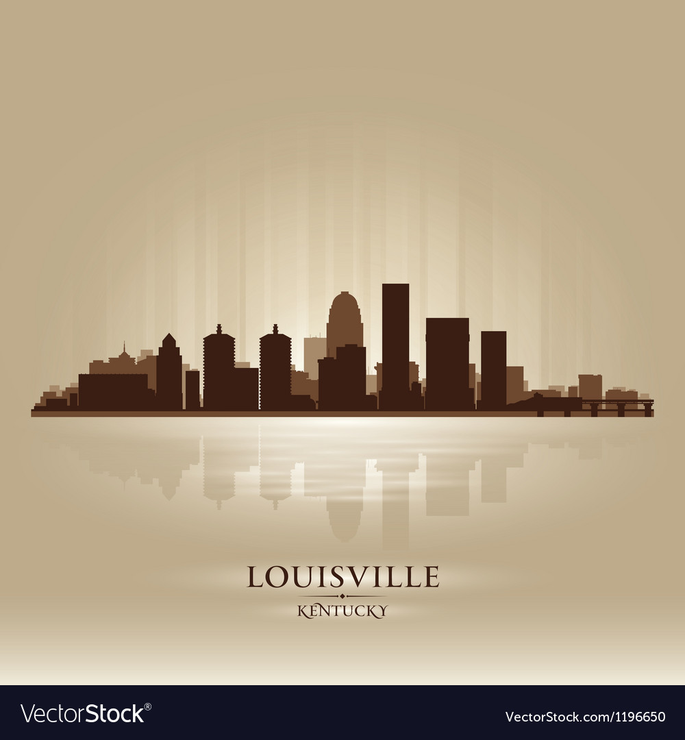 Louisville Kentucky skyline city silhouette vector image
