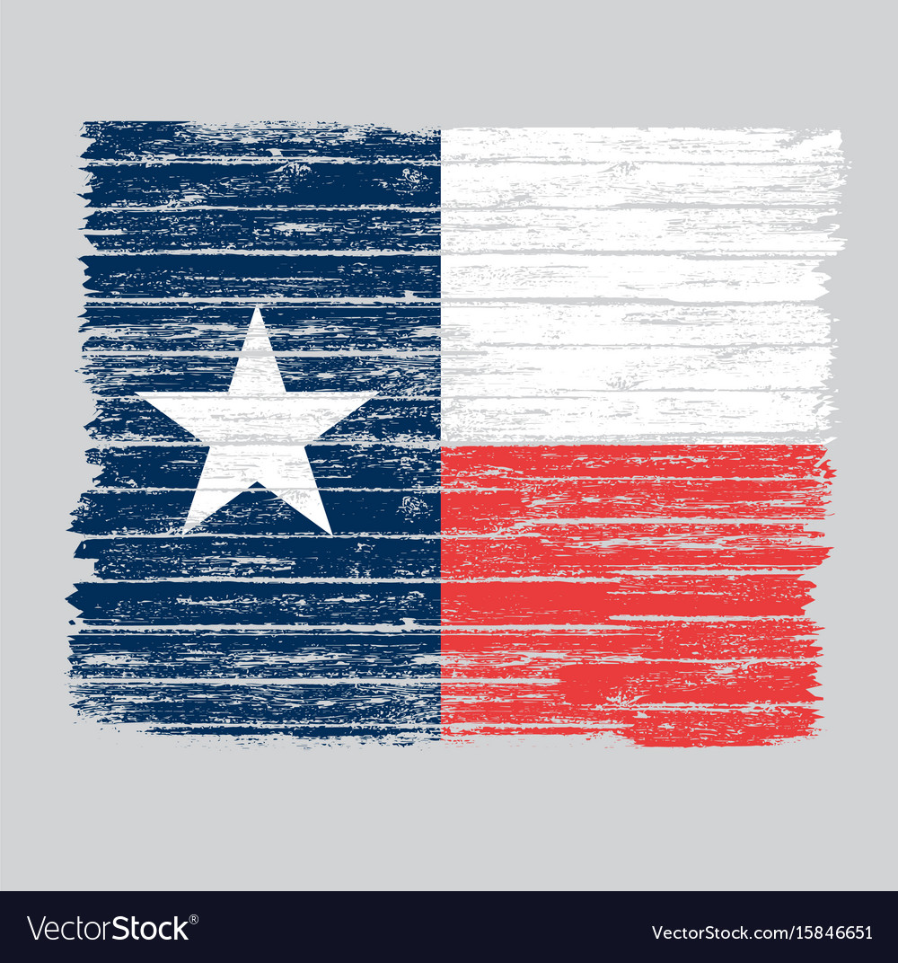 Wooden grunge texas flag vector image