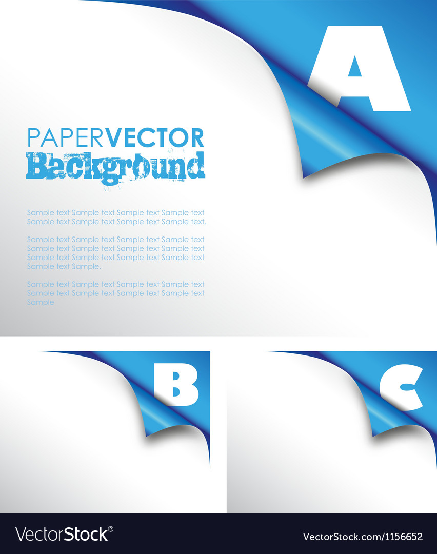 Abc paper fold Vector Image