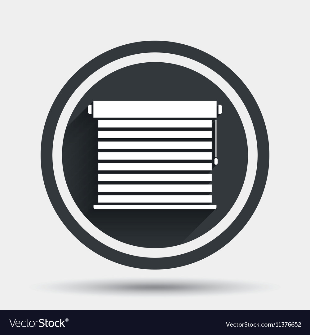Louvers sign icon Window blinds or jalousie Vector Image