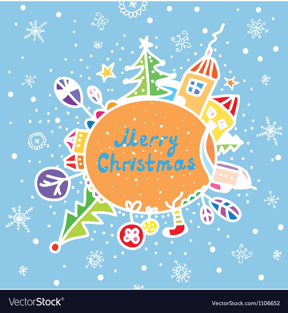 Merry christmas greeting card royalty free vector image merry christmas greeting card vector image kristyandbryce Image collections